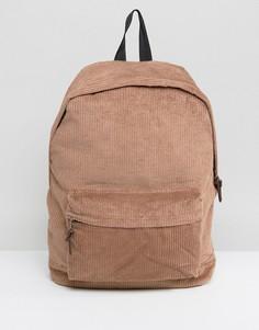 Коричневый вельветовый рюкзак ASOS - Коричневый