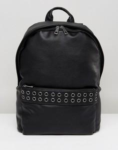 Рюкзак из искусственной зернистой кожи ASOS - Черный