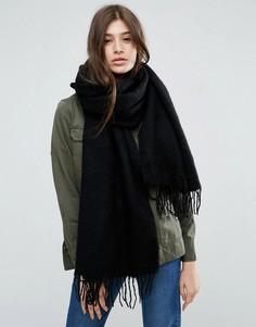 Длинный мягкий шарф с кисточками ASOS - Черный