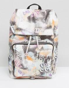 Рюкзак с принтом в стиле граффити ASOS - Мульти