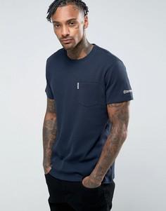 Фактурная футболка с карманом Lambretta - Темно-синий