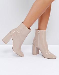 Лакированные ботинки ASOS ENGAGE - Бежевый