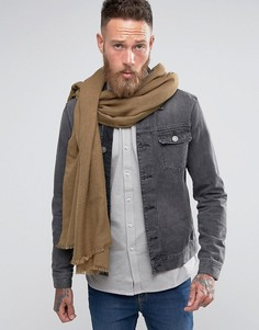 Легкий тканый шарф-накидка цвета хаки ASOS - Зеленый