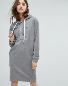Платье-свитер с капюшоном и логотипом Calvin Klein Jeans - Серый
