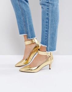 Туфли на каблуке-рюмочка ASOS SOLO - Золотой