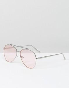 Солнцезащитные очки-авиаторы со светло-розовыми стеклами Skinnydip - Розовый