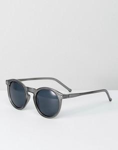 Серые круглые солнцезащитные очки ASOS - Серый