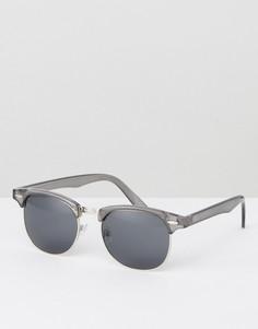 Серые солнцезащитные очки в стиле ретро ASOS - Серый