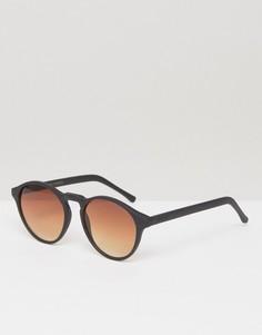 Черные круглые солнцезащитные очки Komono Devon - Черный