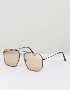 Большие квадратные солнцезащитные очки-авиаторы с затемненными стеклами Jeepers Peepers - Оранжевый