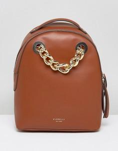 Светло-коричневый мини-рюкзак с цепочкой Fiorelli Anouk - Рыжий