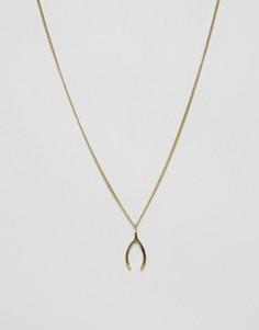 Золотистое ожерелье с подвеской Made - Золотой