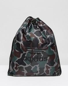 Камуфляжный спортивный рюкзак adidas Originals BQ6102 - Зеленый