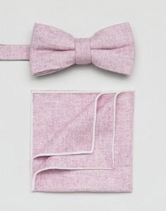 Галстук-бабочка и платок для пиджака 7X - Фиолетовый