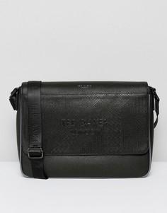 Черная сумка почтальона Ted Baker - Черный