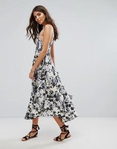 Пляжное платье миди с цветочным принтом Lira - Мульти