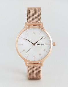 Часы цвета розового золота Skagen Anita - Золотой