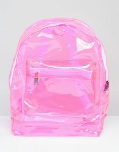 Розовый прозрачный рюкзак классического кроя Mi-Pac - Розовый