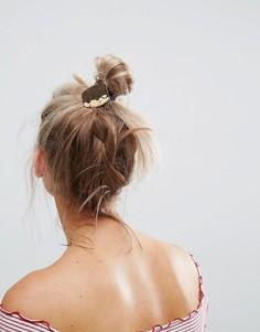 Резинка для волос с кованой пластиной ASOS - Золотой