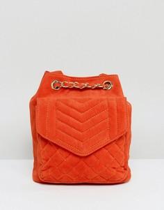 Оранжевый бархатный стеганый рюкзак Glamorous - Оранжевый