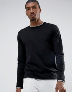 Лонгслив с контрастным низом Esprit - Черный