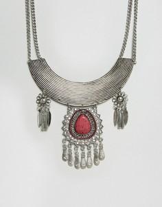 Эффектное ожерелье Glamorous - Серебряный