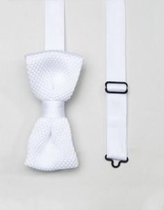 Вязаный галстук-бабочка Noose & Monkey - Белый