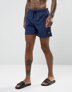 Темно-синие шорты для плавания Lyle & Scott - Темно-синий