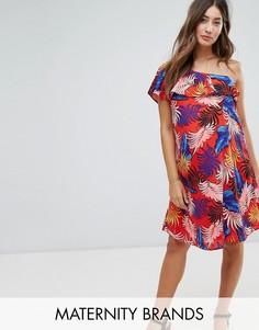 Сарафан с тропическим принтом New Look Maternity - Красный