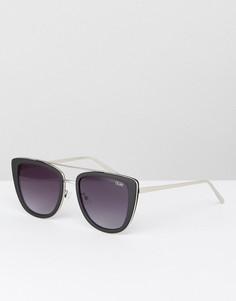 Черные солнцезащитные очки кошачий глаз Quay Australia French Kiss - Черный