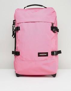 Розовый маленький чемодан на колесах Eastpak Tranverz - Розовый