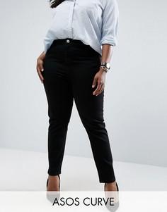 Черные джинсы слим в винтажном стиле ASOS CURVE Farleigh - Черный