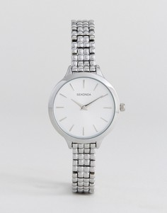 Серебристые часы-браслет Sekonda 2476 - Серебряный