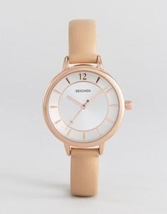 Часы с розовым ремешком из искусственной кожи Sekonda 2137 - Розовый