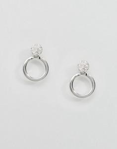 Серебристые серьги-кольца Pilgrim - Серебряный