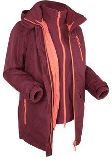 Мультифункциональная куртка (темно-бордовый) Bonprix