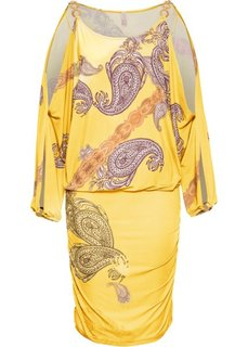 Платье (желтый с рисунком) Bonprix