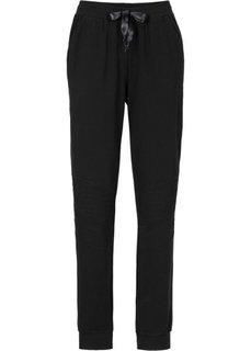 Трикотажные брюки в байкерском стиле (светло-серый меланж) Bonprix