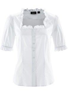 Традиционная блузка с коротким рукавом (белый) Bonprix