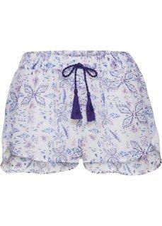 Пляжные шорты (белый с рисунком) Bonprix