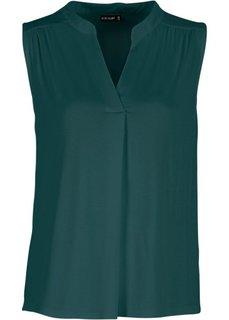 Блузка-топ (зеленый) Bonprix
