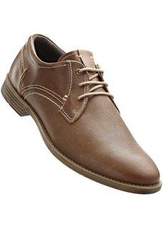 Кожаные туфли (верблюжий) Bonprix