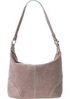 Наплечная сумка из искусственной замши (серо-коричневый) Bonprix