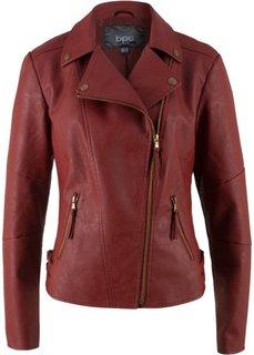 Куртка-косуха из искусственной кожи (красный) Bonprix