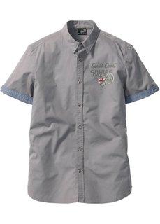 Рубашка Regular Fit с коротким рукавом (серый) Bonprix
