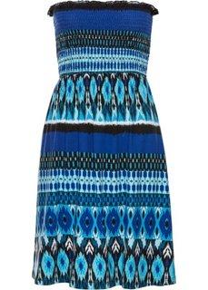 Пляжное платье бандо (черный/синий) Bonprix