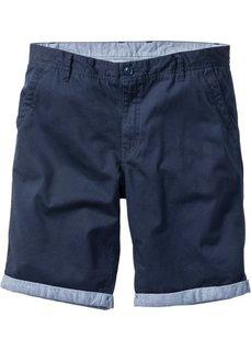 Бермуды-чиносы с отворотами Regular Fit (темно-синий) Bonprix