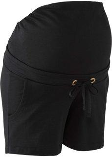 Для будущих мам: шорты на эластичном поясе (черный) Bonprix