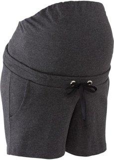 Для будущих мам: шорты на эластичном поясе (антрацитовый меланж) Bonprix