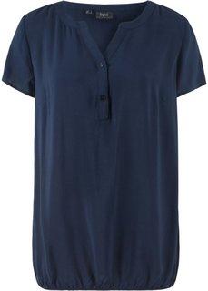 Блузка с коротким рукавом (темно-синий) Bonprix